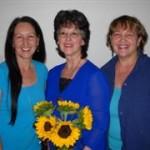 Goldie Caldwell, Roselyn Phare, Diana Walker