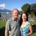 Jim Wilson, Goldie Caldwell Kitsilano Beach Vancouver Diana Walker photo