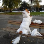 Snowman Sunset #1 Diana Walker Photo Vancouver BC Canada