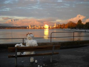 Snowman Sunset #3 Diana Walker Photo Vancouver BC Canada