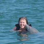 Diana Walker Swimming with Dolphins Grand Cayman 4673