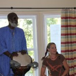 Drumming David Thiaw Salmon Arm BC Canada dianawalker.com Aug2011