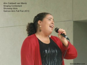 Ahn Caldwell van Mentz Singing Shuswap Idols Salmon Arm BC Canada Fall Fair 2013