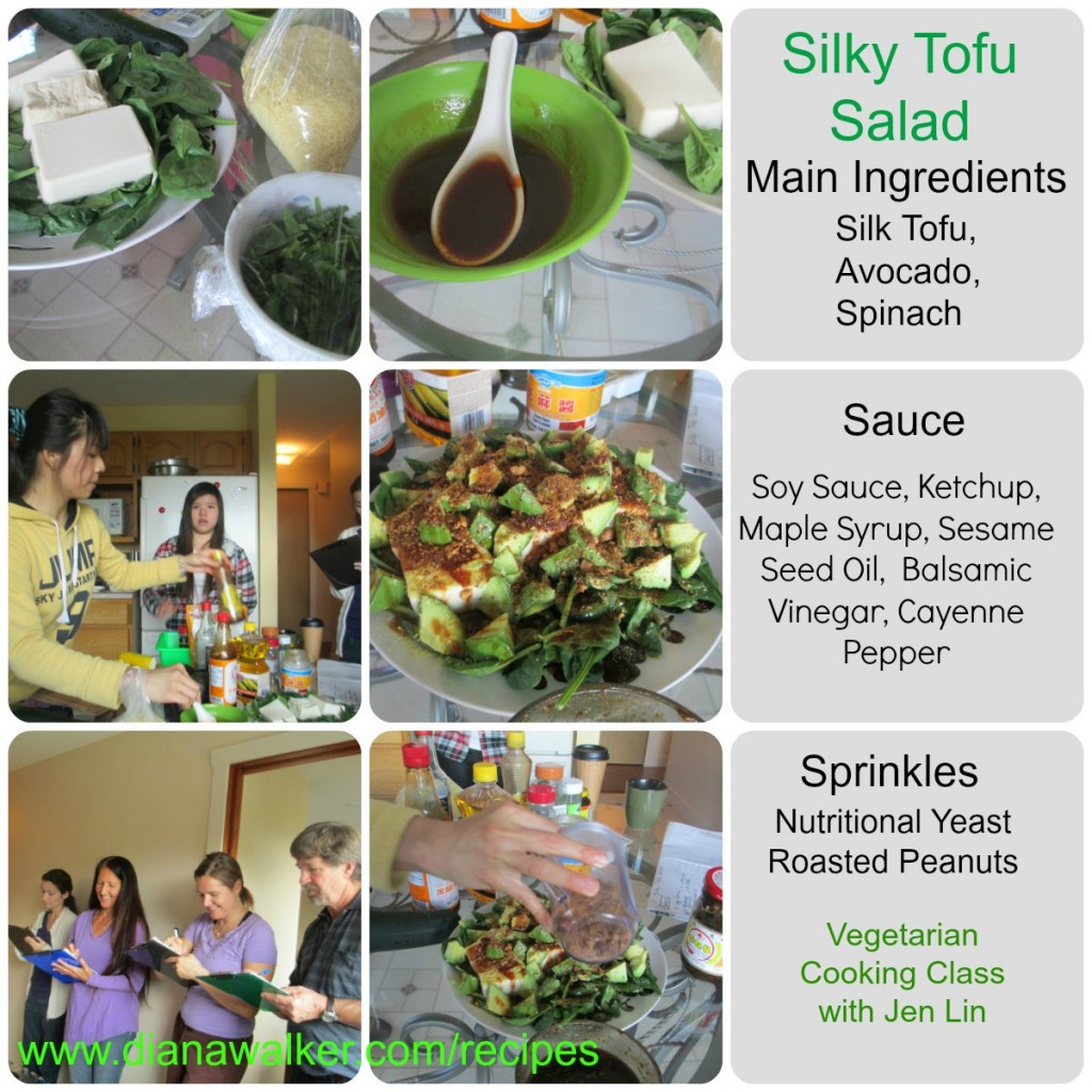 Silky Tofu Salad Recipe Vegetarian Cooking with Jen Lin