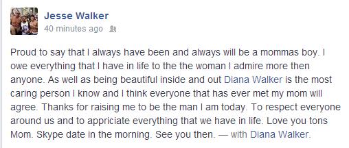 Diana Walker Happy Mother's Day Jesse Walker Gabe Walker