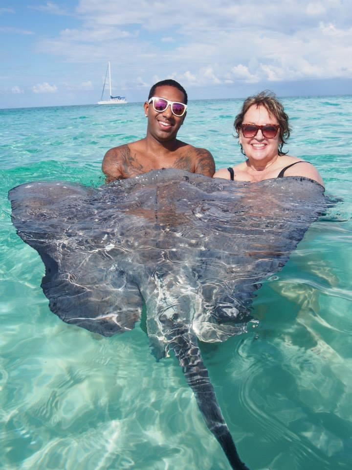 Stingray City Grand Cayman Jesse and Diana Walker Caribbean Vacation