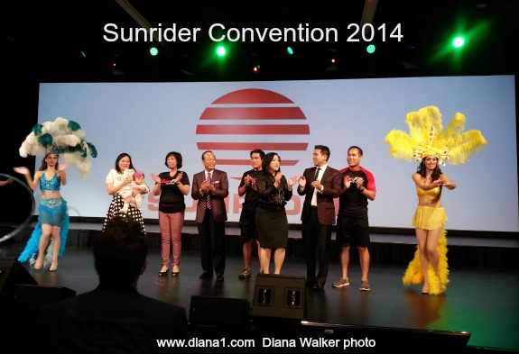 Sunrider Convention 2014 Diana Walker photo Chens on stage
